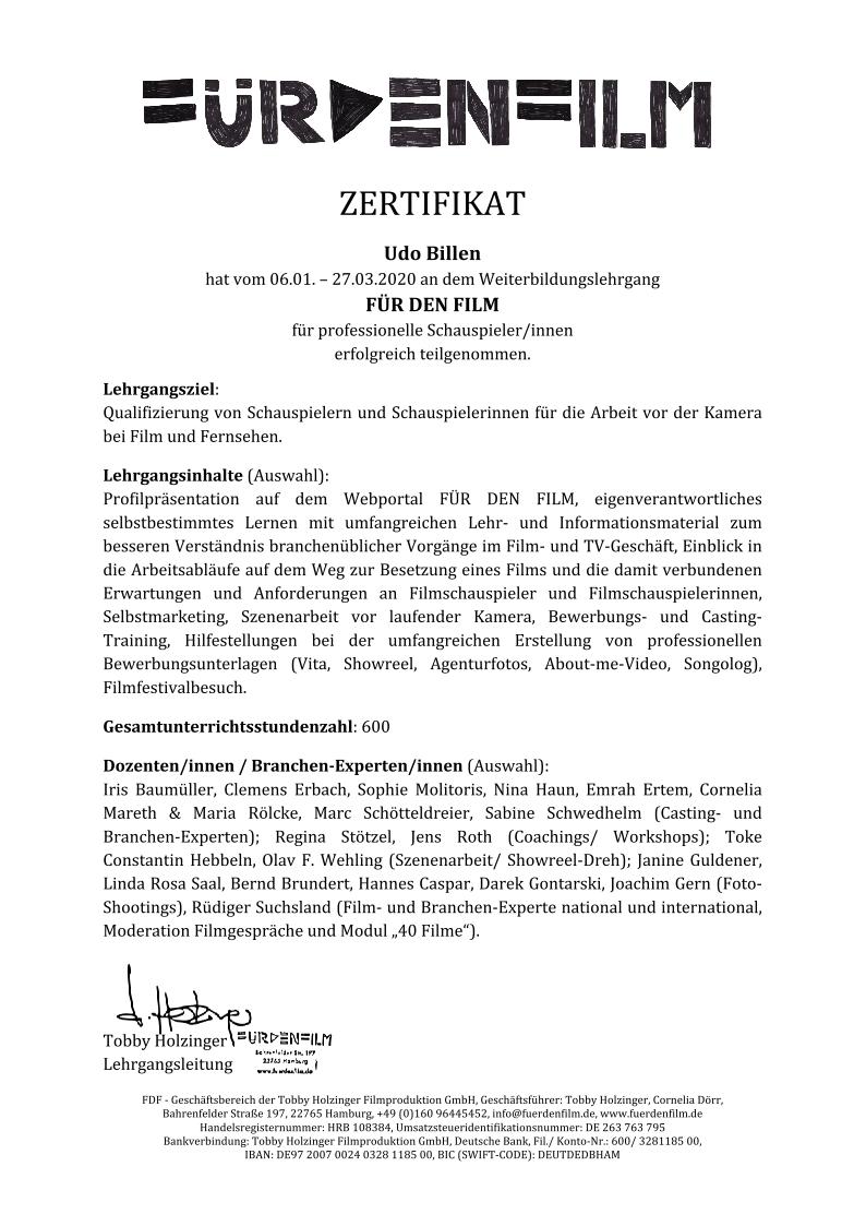 FDF-Zertifikat-Billen,Udo